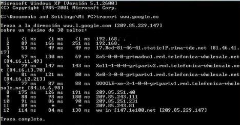 Tracert (TRaceroute)